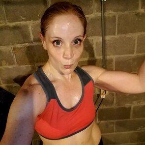 In bodybuilding contest Erection